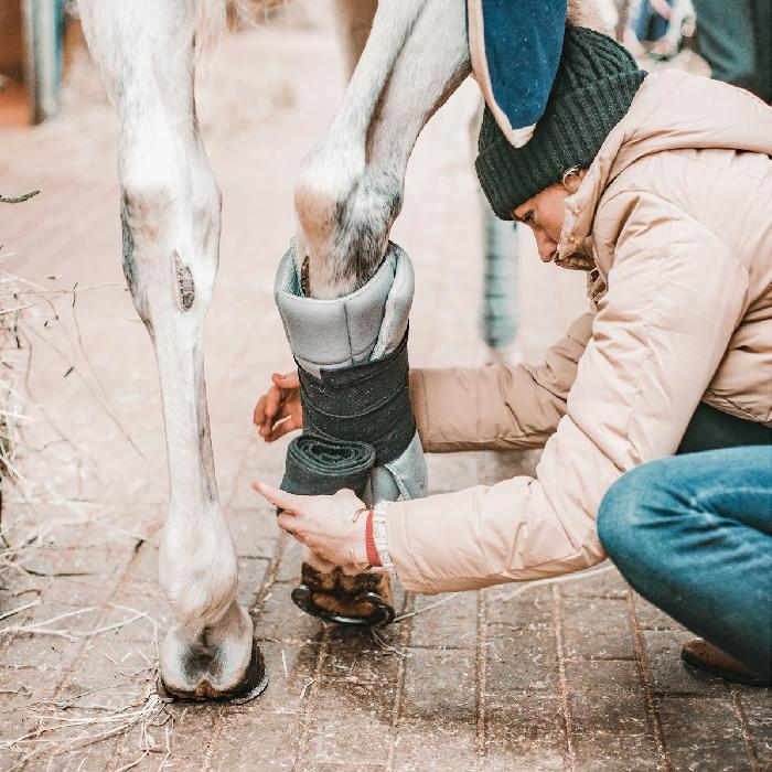 Incrediewear standing leg wrap bandageunderlag